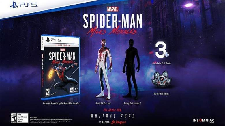 Marvel's Spider Man Miles Morales Pre Order Bonus