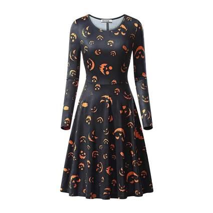Black dress with jack-o'-lanterns