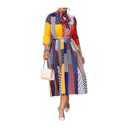 Verwin patchwork dress