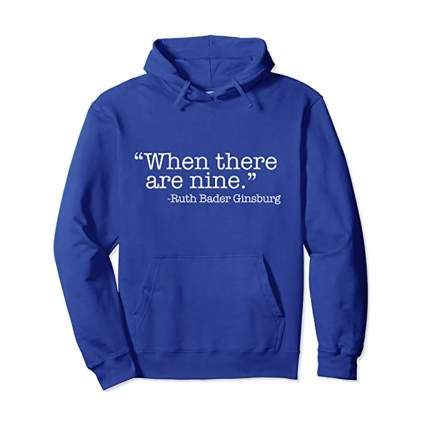 RBG quote unisex hoodie