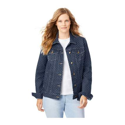 Woman Within Plus Size Denim Jacket
