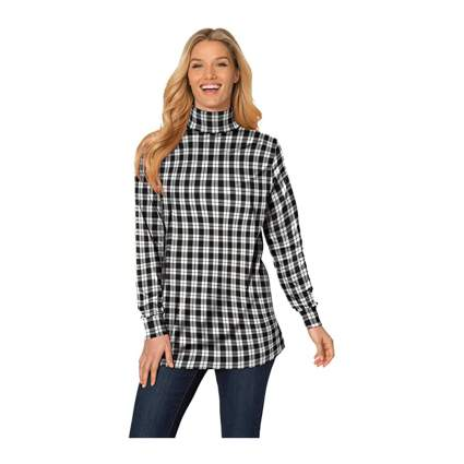 Woman Within plaid shirts for women