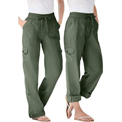 Woman Within womans cargo pant