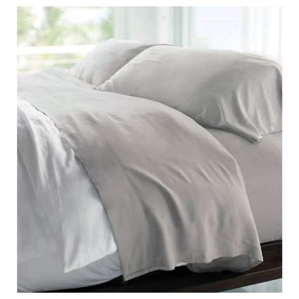 gray bamboo sheet set