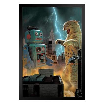 Catzilla Vs Robot Animal Battle in NYC