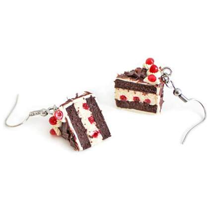 black forest cake earrings