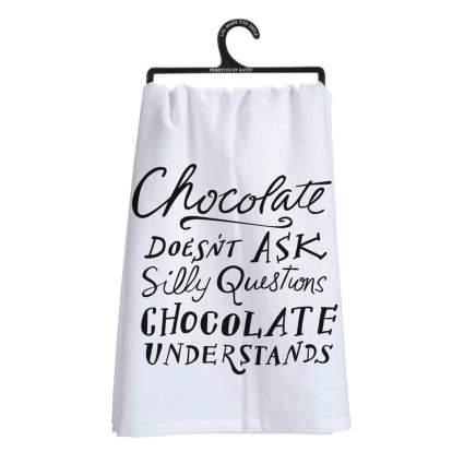 chocolate dish towel
