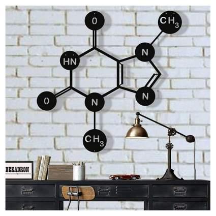 chocolate molecule metal wall art