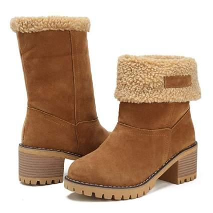 Dotacoko Chunky Mid Heel Boots