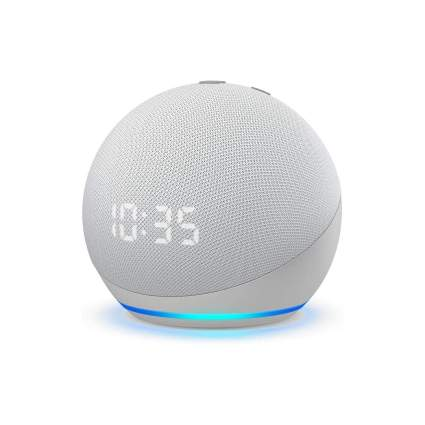 Echo Dot 4th Generation with Clock and Alexa
