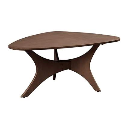 eliptical mid century modern table