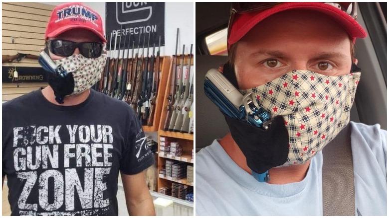 face mask gun holsters