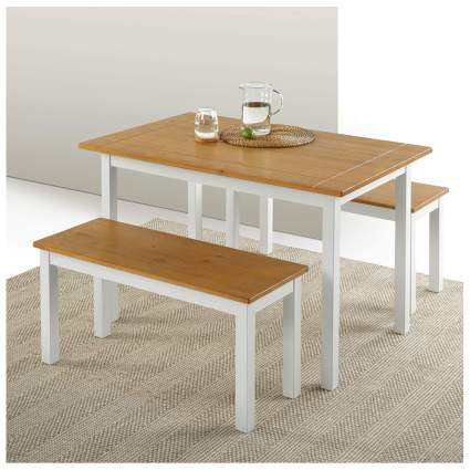 farmhouse dining set with benches