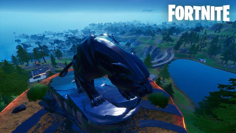 fortnite panther monument