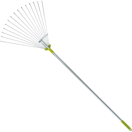Gardenite 63-Inch Adjustable Garden Leaf Rake