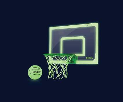glow in the dark basketball hoop