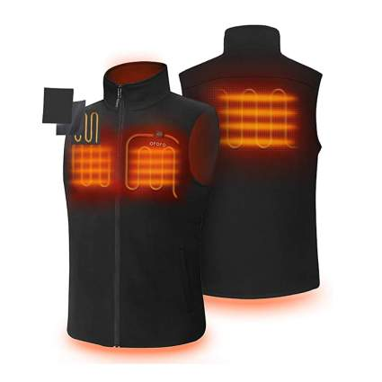 heated fleece vest