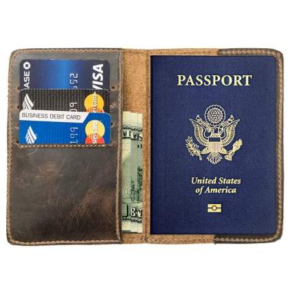 Hide & Drink Leather Bifold Travel Wallet