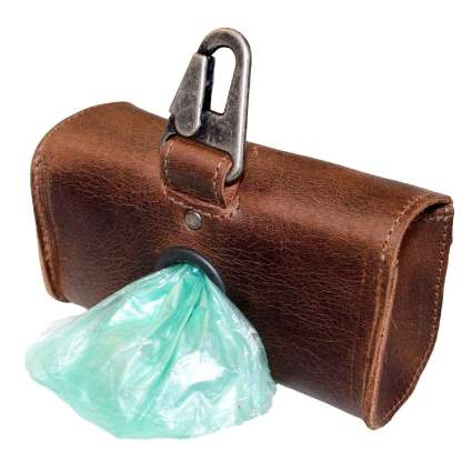 Hide & Drink Leather Dog Doo Bag Dispenser