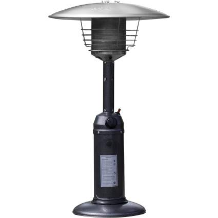 Hiland Hammered Silver Table Top Patio Heater