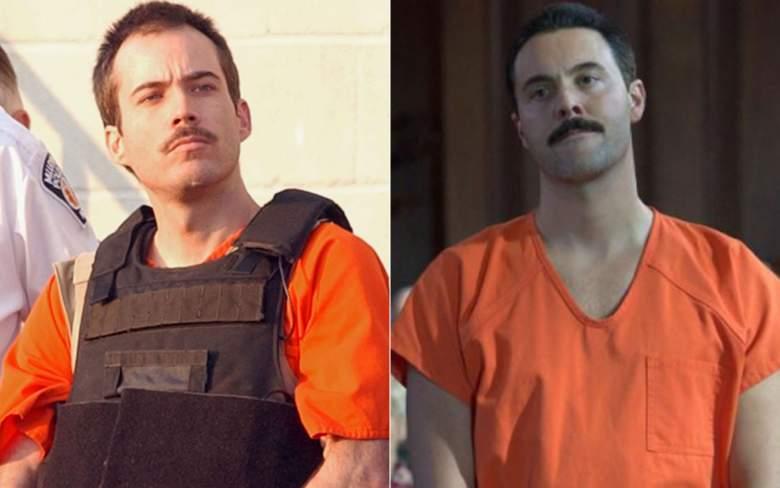 Jack Huston portrays Atlanta Olympics bomber Eric Rudolph in Manhunt: Deadly Games on CBS.