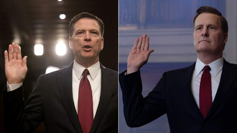Jeff Daniels as James Comey in The Comey Rule
