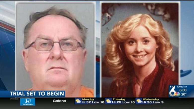 Jerry Burns' mugshot and a family photo of Michelle Martinko.