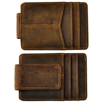 Le'aokuu Genuine Leather Slim Front Pocket Wallet