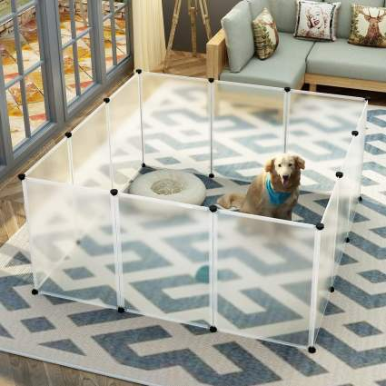 Foldable dog fence for list