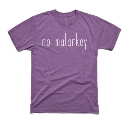 No Malarkey Purple Heather Tee