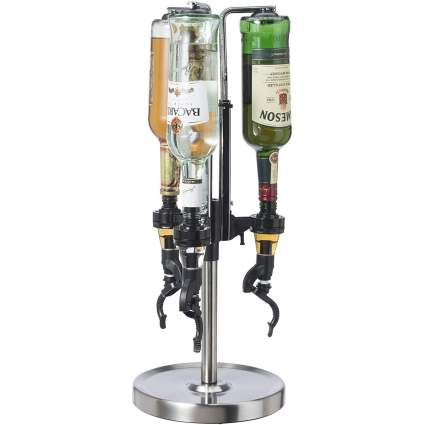 Oggi Professional 3-Bottle Revolving Liquor Dispenser