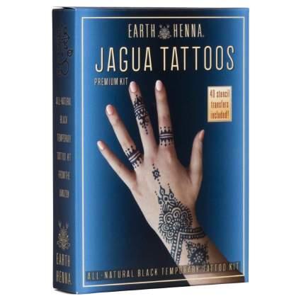 Organic Jagua Black Temporary Tattoo Kit