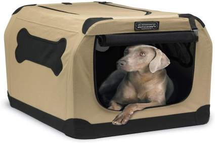 Portable dog crate for list