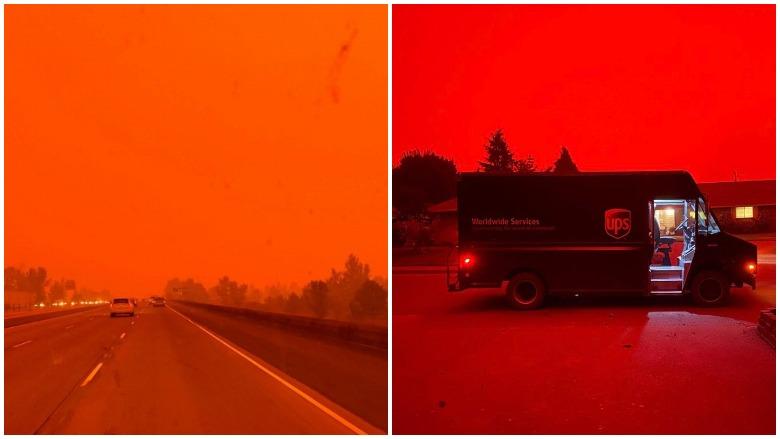 Photos red skies oregon