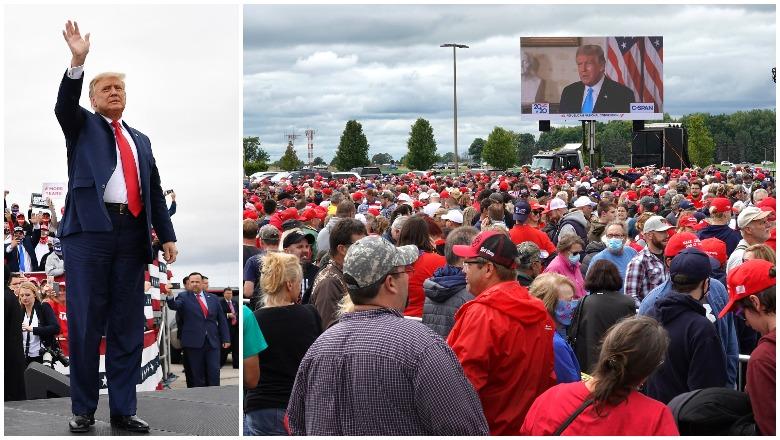 Trump Michigan rally crowd size