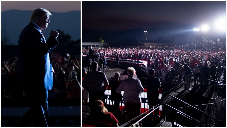 Trump's Minden, Nevada Rally Crowd Size