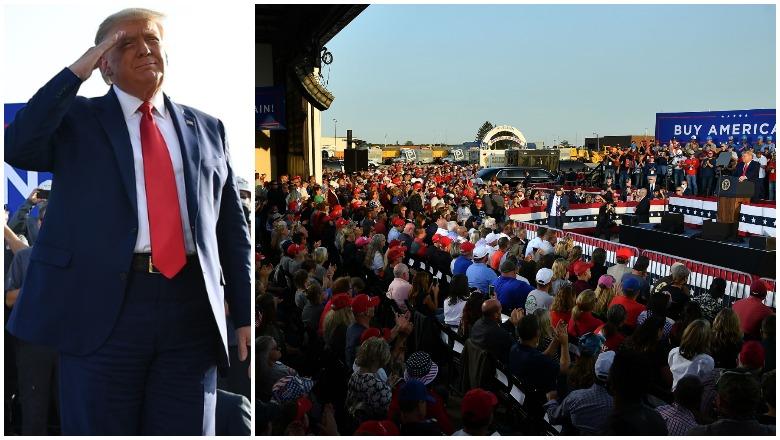 Trump Dayton, Ohio Rally Crowd