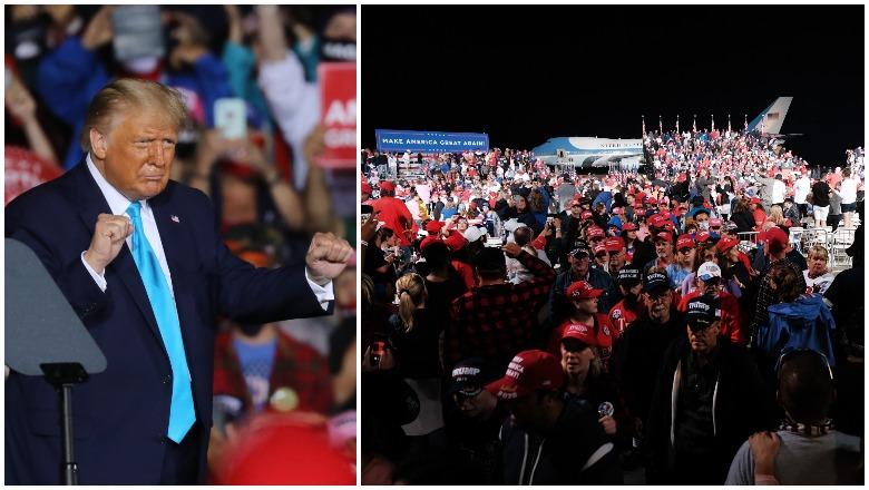 Trump Middletown Pennsylvania Rally Crowd Size Photos