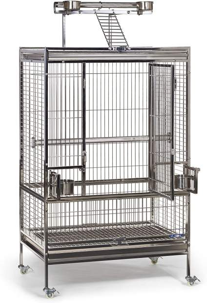 Large stainless bird cage for list