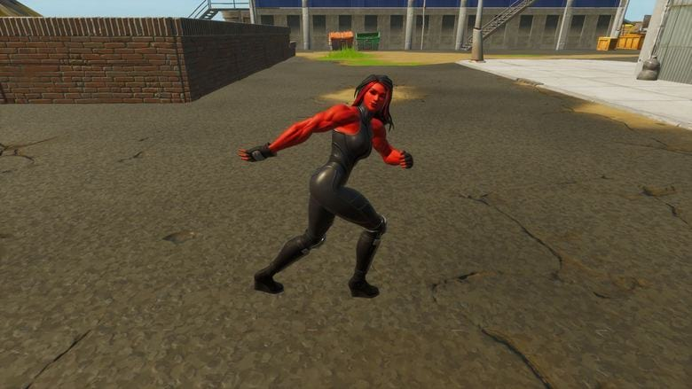 red she hulk style fortnite