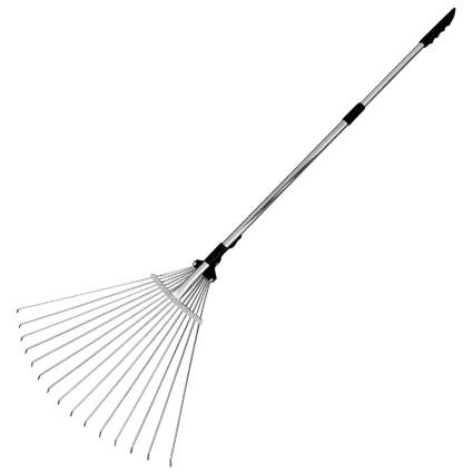 Buyplus Telescopic Metal Leaf Rake