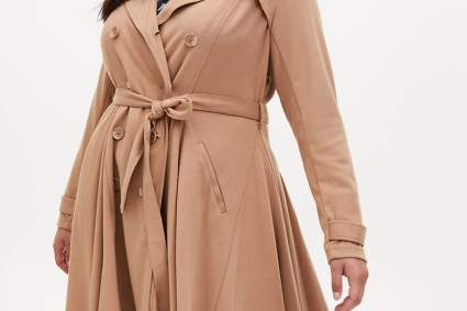 torrid camel trench coat
