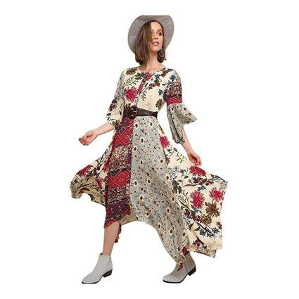 umgee patchwork dress