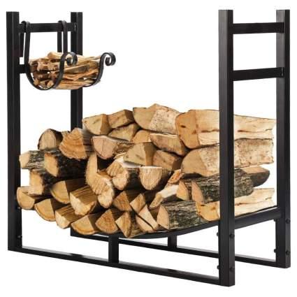 Vivohome Three-Foot Heavy-Duty Firewood Rack