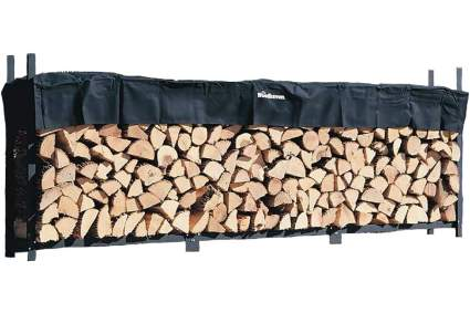 Woodhaven 12-Foot Firewood Log Rack with Cover