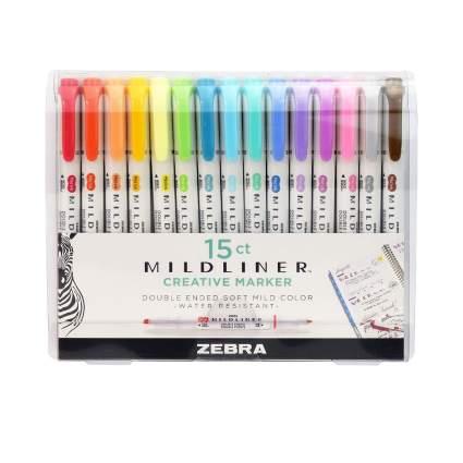 Zebra Pen Mildliner Markers