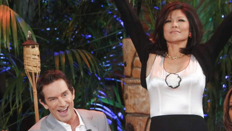 Survivor host Jeff Probst and Big Brother host Julie Chen