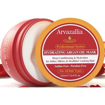Open jar of Arvazallia hair mask