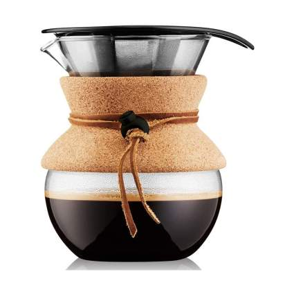 Pour over coffee brewer with cork