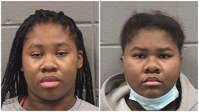 Chicago sisters stab security guard masks